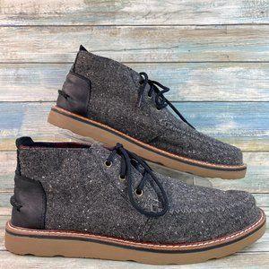 Toms Black Fabric Chukka Boots